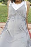 Femmes enceintes à la grossesse d'âge de quatre mois Images libres de droits