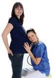 Femmes enceintes et docteur Photo libre de droits