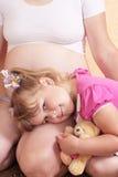 Femmes enceintes et enfant Photos libres de droits