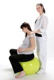 Femmes enceintes et forme physique d'infirmière Images libres de droits