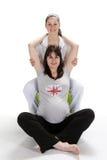 Femmes enceintes et forme physique d'infirmière Photo stock