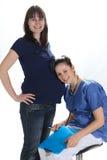 Femmes enceintes et infirmière Image libre de droits