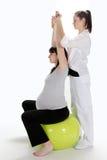 Femmes enceintes et infirmière Photographie stock