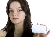 Femmes et carte de visite professionnelle de visite Photos libres de droits