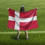 Femmes et drapeau danois illustration de vecteur