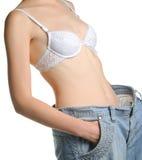 Femmes et jeans de la taille plus grande Photographie stock libre de droits