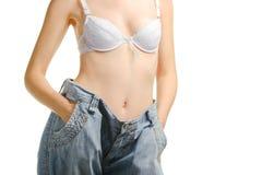 Femmes et jeans de la taille plus grande Photos libres de droits