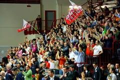 femmes européens de volleyball de cuvette de cev Photo stock