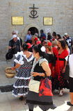 Femmes gitanes, Saintes Maries de la Mer, Camargue Photo stock