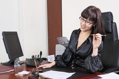 Femmes heureuses d'affaires photos stock