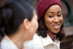 Femmes heureuses d'affaires Image stock