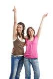 femmes heureuses de s jeunes Photo stock
