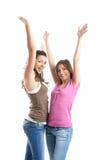 femmes heureuses de s jeunes Photos libres de droits