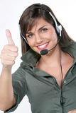 femmes heureuses de téléphone Photos stock