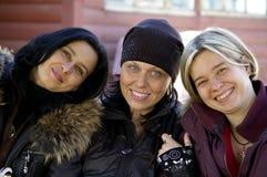 Femmes heureux image stock