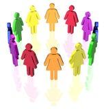 Femmes homosexuelles de cercle illustration libre de droits