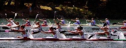Femmes K-4 500 m - 1 Image libre de droits