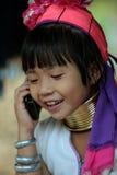 FEMMES LONGNECK DE L'ASIE THAÏLANDE CHIANG MAI Images libres de droits