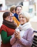 Femmes mûres buvant du thé Photos libres de droits