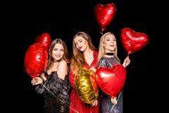 Femmes magnifiques avec des ballons Image libre de droits