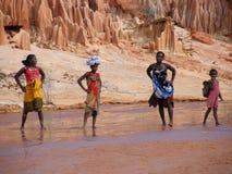 Femmes malgaches indigènes Images stock