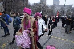 Femmes mars à Toronto Photographie stock libre de droits