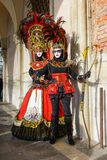 Femmes masquées par plume Photo libre de droits