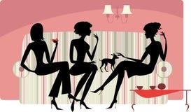 Femmes parlants illustration stock