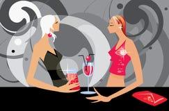Femmes parlants illustration de vecteur