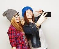 Femmes prenant le selfie Photo libre de droits