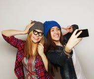 Femmes prenant le selfie Photographie stock libre de droits