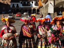 Femmes Quechua dans Cusco, Pérou images libres de droits