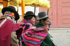 Femmes quechua traditionnelles Images libres de droits