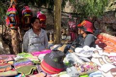 Femmes Quechua travaillant au marché Photographie stock