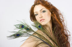 Femmes Red-haired Images stock