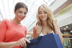 Femmes regardant dans le panier Photographie stock libre de droits
