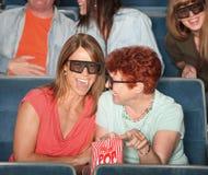 Femmes riants avec les glaces 3D Photos stock