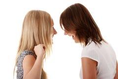 femmes riants heureux d'amis jeunes Image libre de droits
