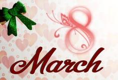 Femmes ` s jour 8 mars Image libre de droits