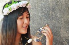 Femmes thaïlandaises de jeune mariée Images libres de droits