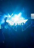 Femmina al concerto rock Fotografie Stock