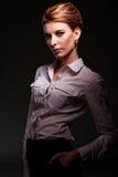 Femmina caucasica attraente Fotografia Stock Libera da Diritti