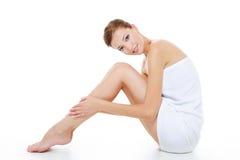 Femmina con i bei piedini Fotografie Stock Libere da Diritti