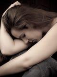 Femmina con la depressione Fotografia Stock