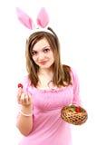 Femmina del coniglietto di pasqua Immagine Stock