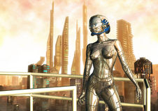 Femmina del robot Fotografia Stock Libera da Diritti