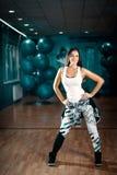 Femmina di allenamento di ballo di Zumba Fotografia Stock Libera da Diritti