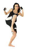 Femmina di Kickboxing Immagini Stock