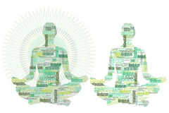 Femmina di meditazione di yoga illustrazione vettoriale