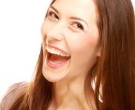 Femmina di risata. Fine su. Immagine Stock Libera da Diritti